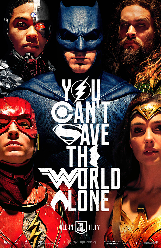 Justice League poster: You Can't Save the World Alone