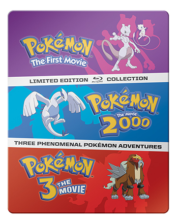 pokemon collection three movies on blu-ray