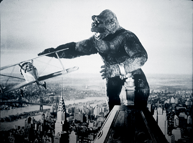 King Kong attacking the Empire State Building