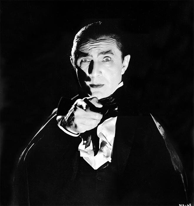 Bela Lugosi as vampire