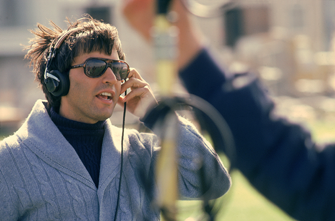 Time After Time's writer and director Nicholas Meyer on the set of the 1979 film.