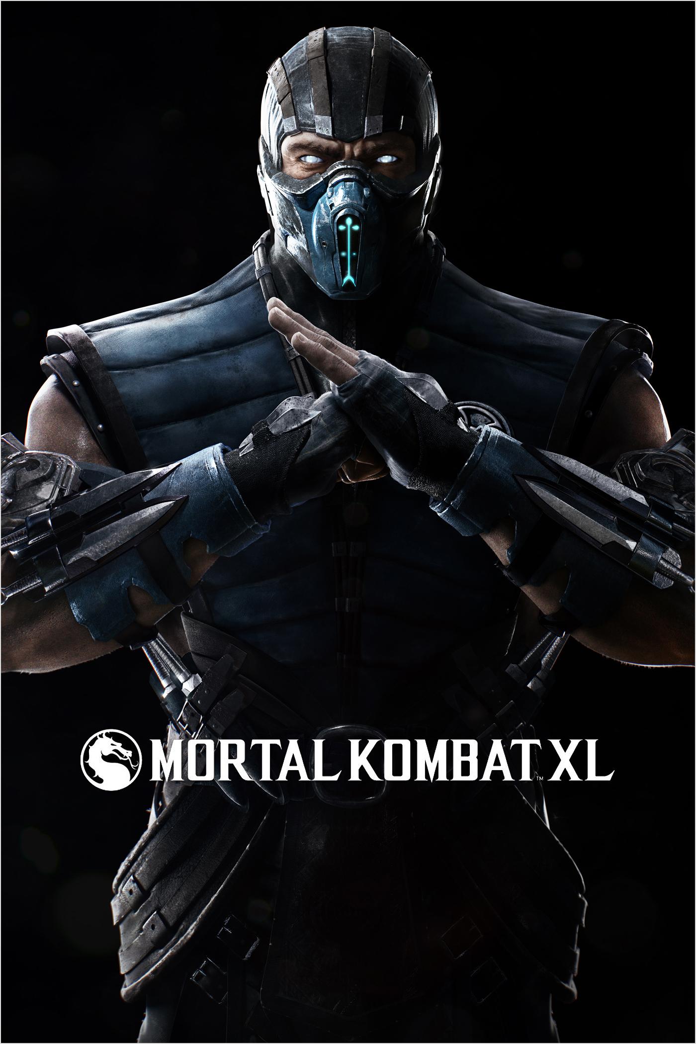 Mortal Kombat XL: Sub-Zero character with game logo