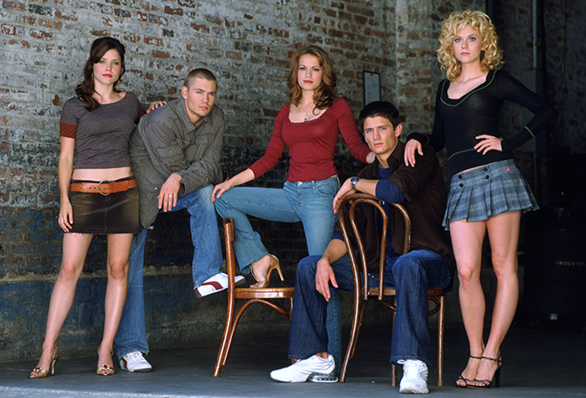 cast publicity photo for one tree hill