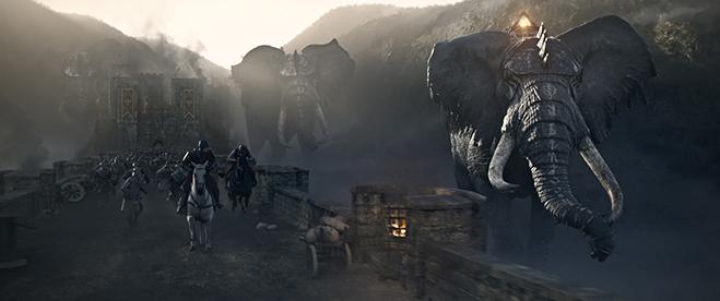 Opening war scene in King Arthur: Legend of the Sword