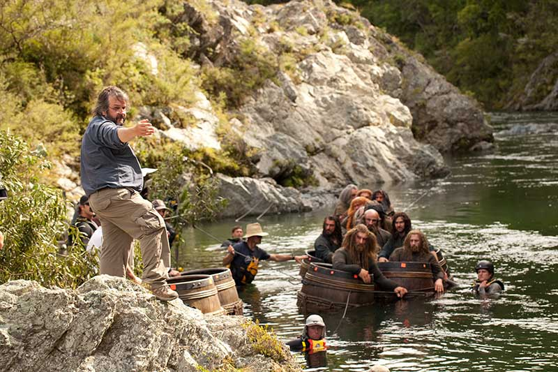 Peter Jackson Dwarves Floating River