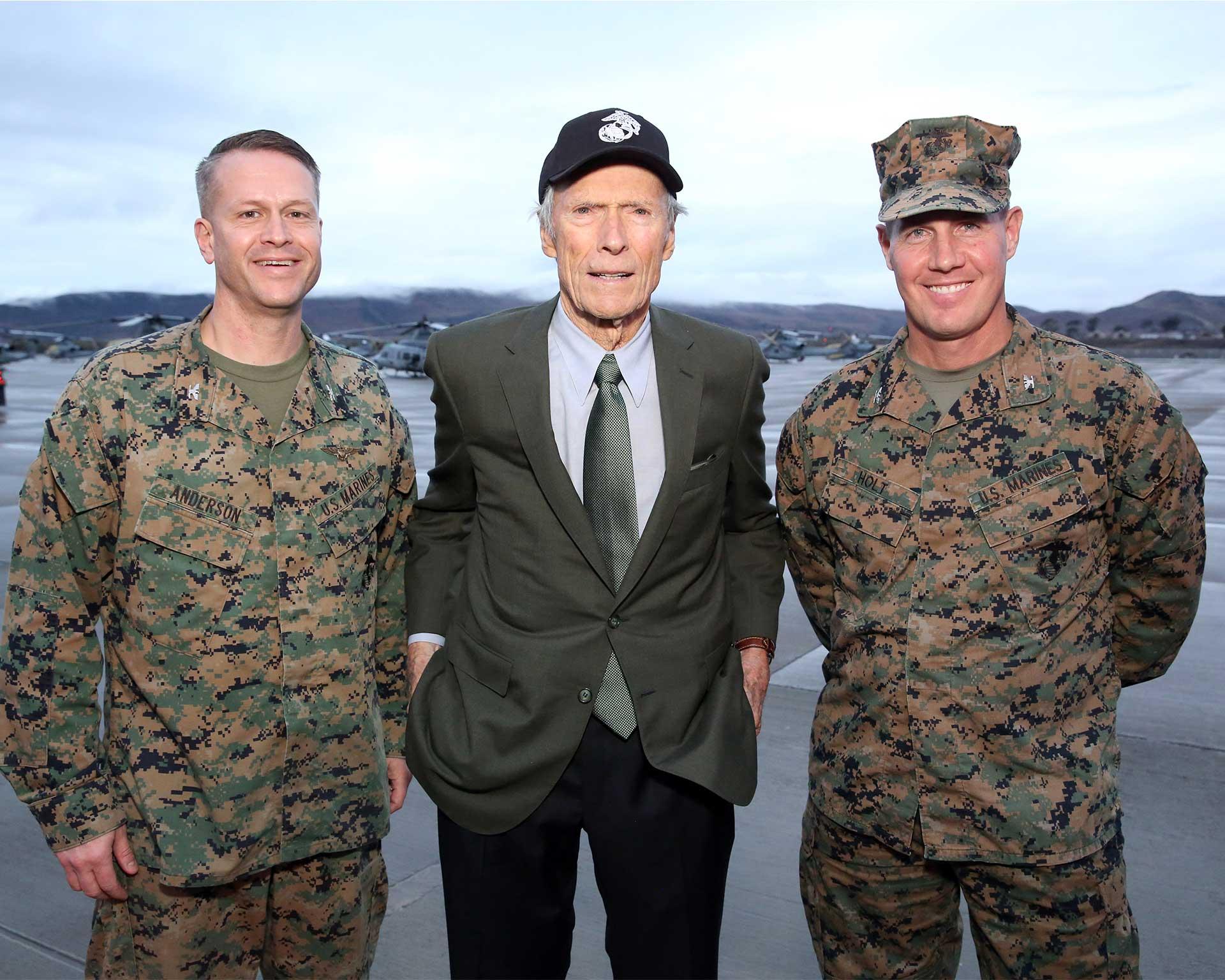 "WarnerBros.com | Clint Eastwood at Camp Pendleton for ""Richard ..."