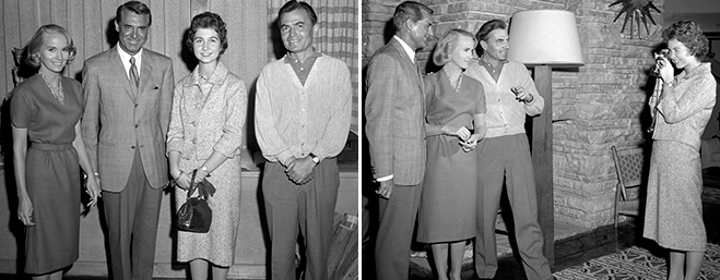 Princess Sophia of Greece and Denmark had her picture taken with Eva Marie Saint, Cary Grant and James Mason, and then took a photo herself of the star trio.