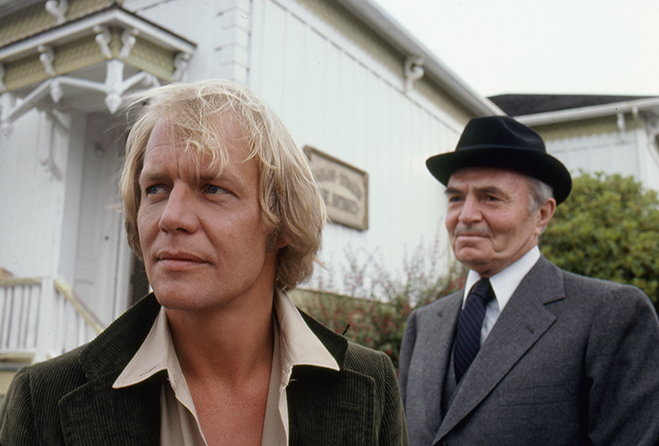 david soul and james mason star in the miniseries salem's lot, based on the stephen king novel of the same name.