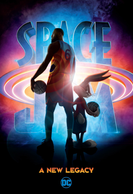"""""""Space Jam: A New Legacy"""" - DC Publishing - LeBron James with bugs Bunny on black background"""