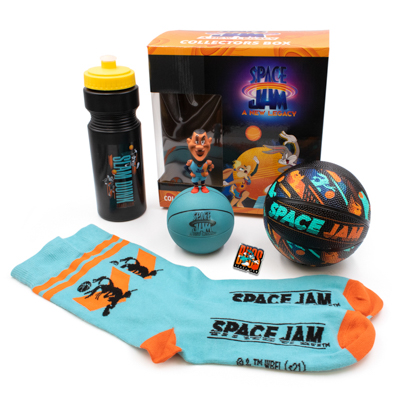 """""""Space Jam: A New Legacy"""" - GameStop - Basketball, socks, water bottle, pin, collectors box"""
