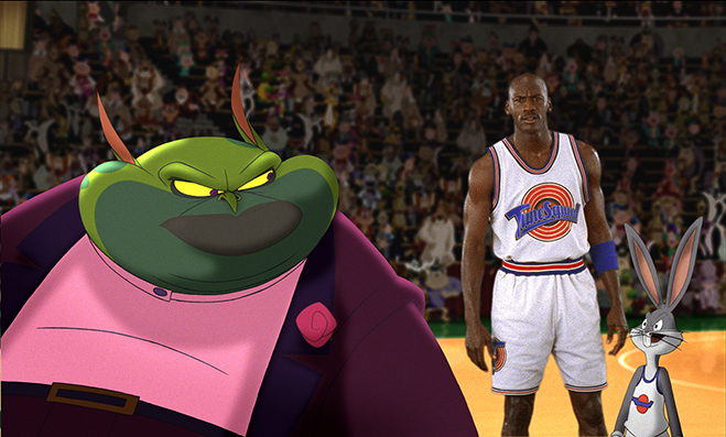 michael jordan and bugs bunny in space jam