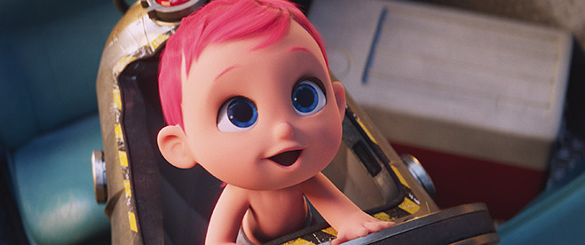 "The baby in the new animated adventure ""STORKS,\"" a Warner Bros. Pictures release."