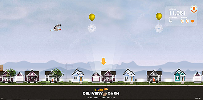 Screenshot of Storks Delivery Dash game
