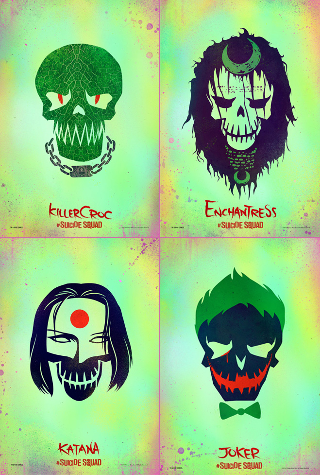 Suicide Squad character art