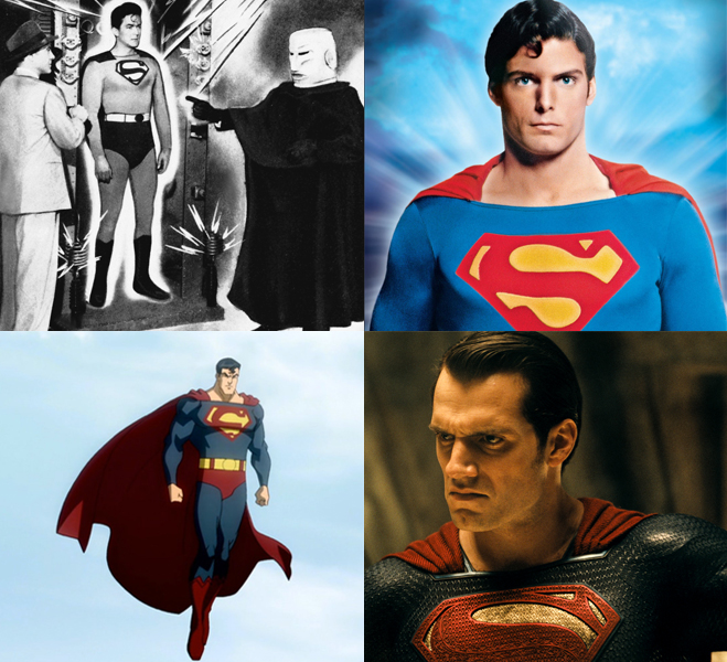 Superman throughout the years