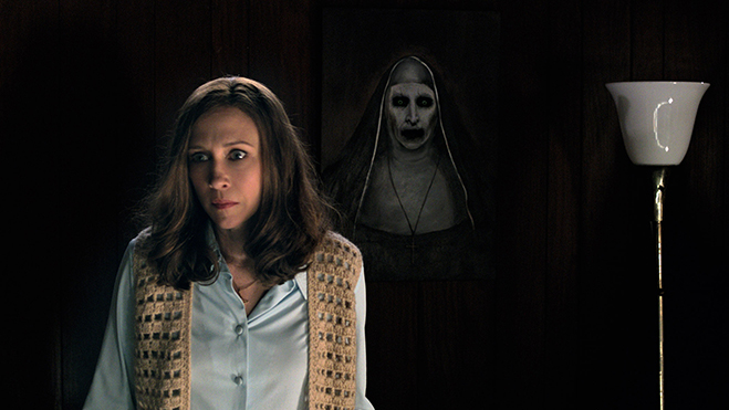 Lorraine Warren and the Nun in The Conjuring 2