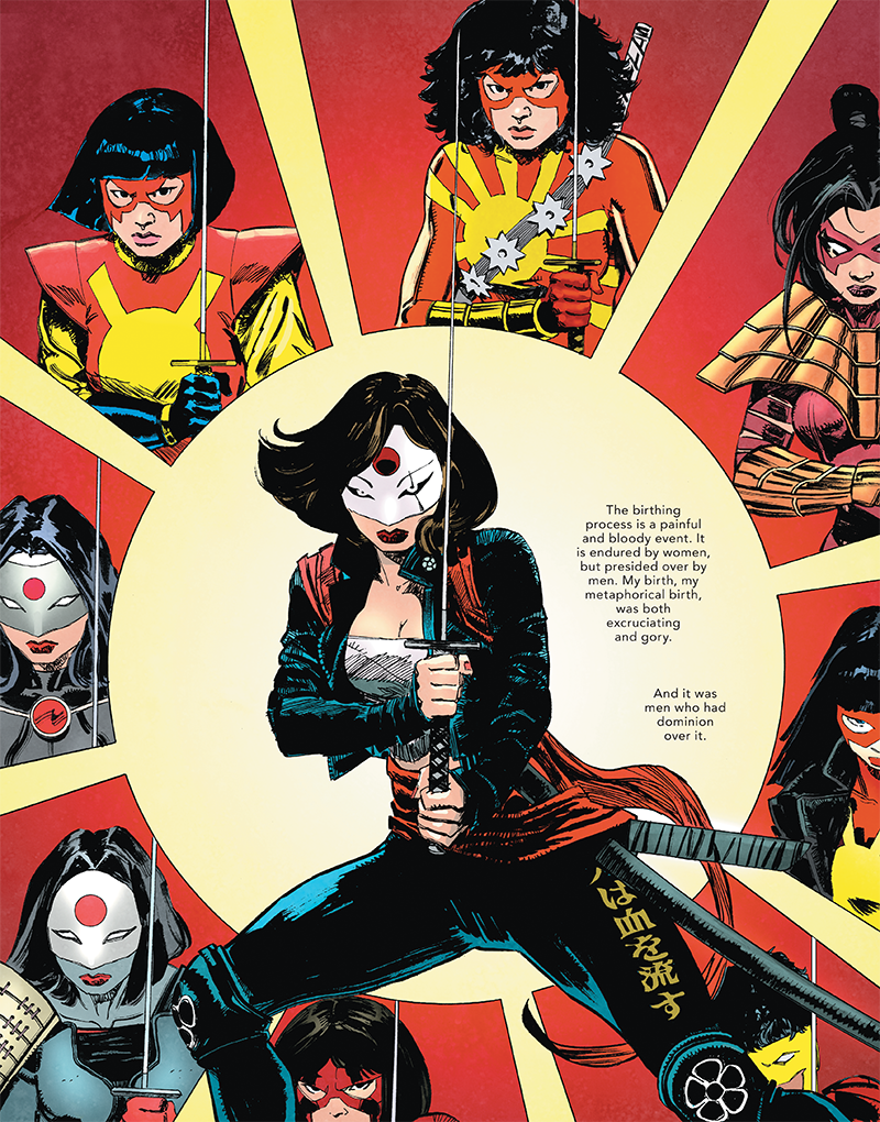 The Other History of the DC Universe #3 - Katana Birthing process