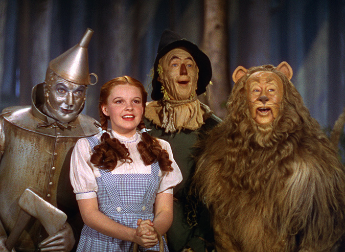 Judy Garland and Wizard of Oz cast