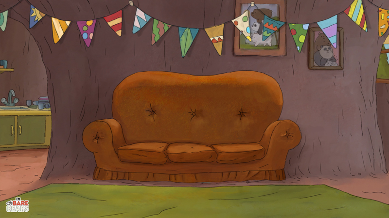 Cartoon Network: We Bare Bears Couch - Virtual Background - Article
