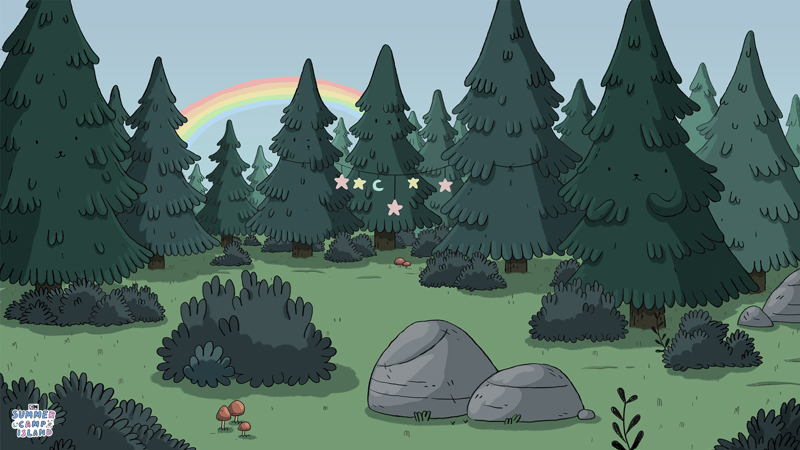 Cartoon Network: Summer Camp Island Forest - Virtual Background - Article