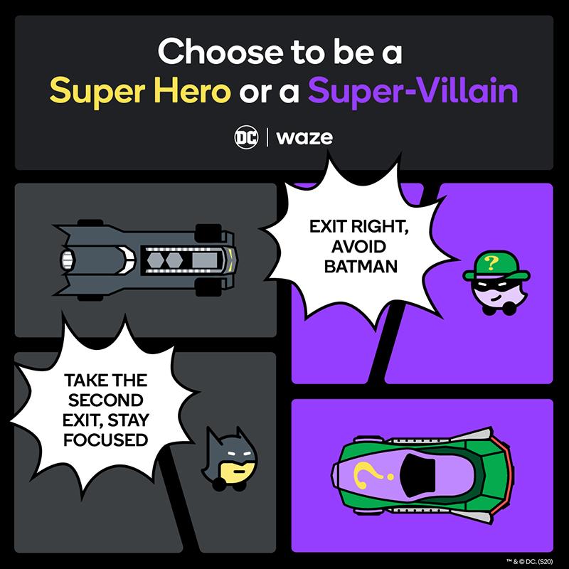 "Batman and The Riddler"" theme on Waze - 800"
