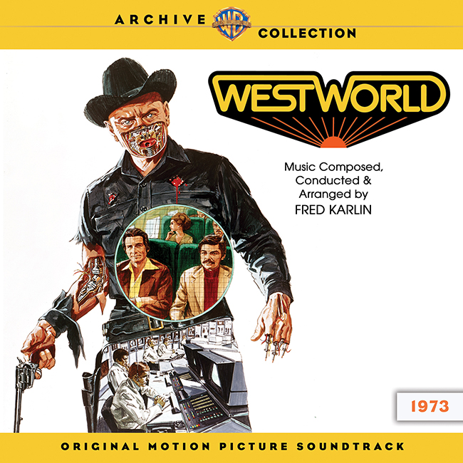 Westworld 1973 soundtrack cover with Yul Brynner